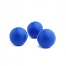 "2"" Blue Ball Candles (12pc/Box)"