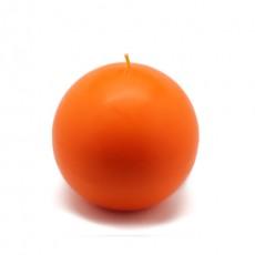 "4"" Orange Ball Candles (12pcs/Case) Bulk"