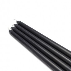 "12"" Black Taper Candles (1 Dozen)"
