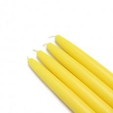 "6"" Yellow Taper Candles (144pcs/Case) Bulk"