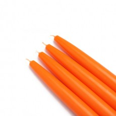 "6"" Orange Taper Candles (144pcs/Case) Bulk"