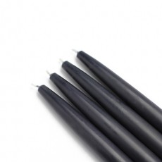 "6"" Black Taper Candles (144pcs/Case) Bulk"