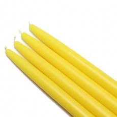 "10"" Yellow Taper Candles (144pcs/Case) Bulk"