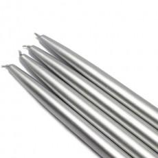 "10"" Metallic Silver Taper Candles (144pcs/Case) Bulk"