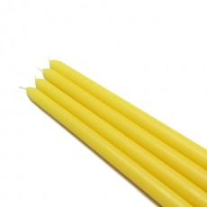 "12"" Yellow Taper Candles (144pcs/Case) Bulk"