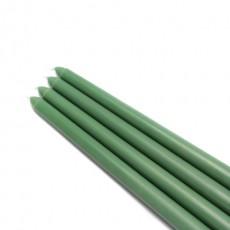 """12"""" Hunter Green Taper Candles (1 Dozen)"""