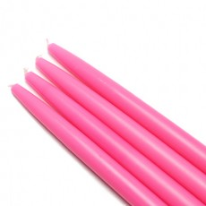 "10"" Hot Pink Taper Candles (144pcs/Case) Bulk"