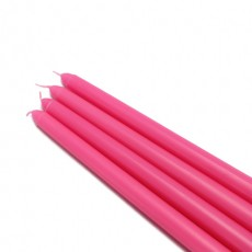 "12"" Hot Pink Taper Candles (1 Dozen)"