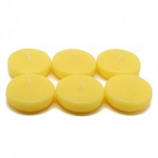 "2 1/4"" Yellow Floating Candles (96pcs/Case) Bulk"