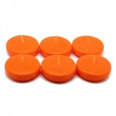 """2 1/4"""" Orange Floating Candles (24pc/Box)"""