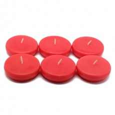 "2 1/4"" Ruby Red Floating Candles (96pcs/Case) Bulk"
