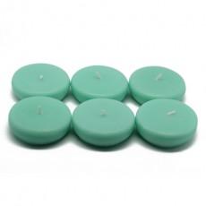 """2 1/4"""" Aqua Floating Candles (24pc/Box)"""