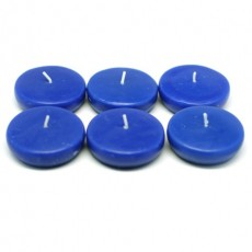 "2 1/4"" Blue Floating Candles (24pc/Box)"