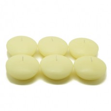 """3"""" Ivory Floating Candles (72pcs/Case) Bulk"""