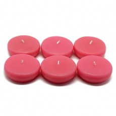 "2 1/4"" Hot Pink Floating Candles (24pc/Box)"