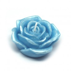 "3"" Blue Rose Floating Candles (12pc/Box)"
