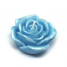 "3"" Blue Rose Floating Candles (144pcs/Case) Bulk"