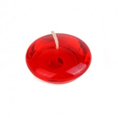 "3"" Clear Red Gel Floating Candles (6pc/Box)"