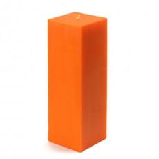 "3 x 9"" Orange Square Pillar Candle (12pcs/Case) Bulk"