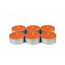 Mega Oversized Orange Tealights (144pcs/Case) Bulk