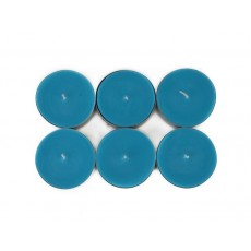 Mega Oversized Turquoise Tealights (144pcs/Case) Bulk