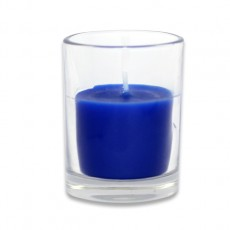 Blue Round Glass Votive Candles (96pcs/Case) Bulk
