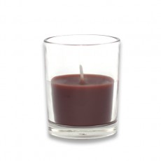 Brown Round Glass Votive Candles (12pc/Box)