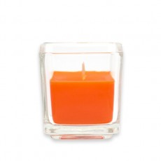Orange Square Glass Votive Candles (96pcs/Case) Bulk