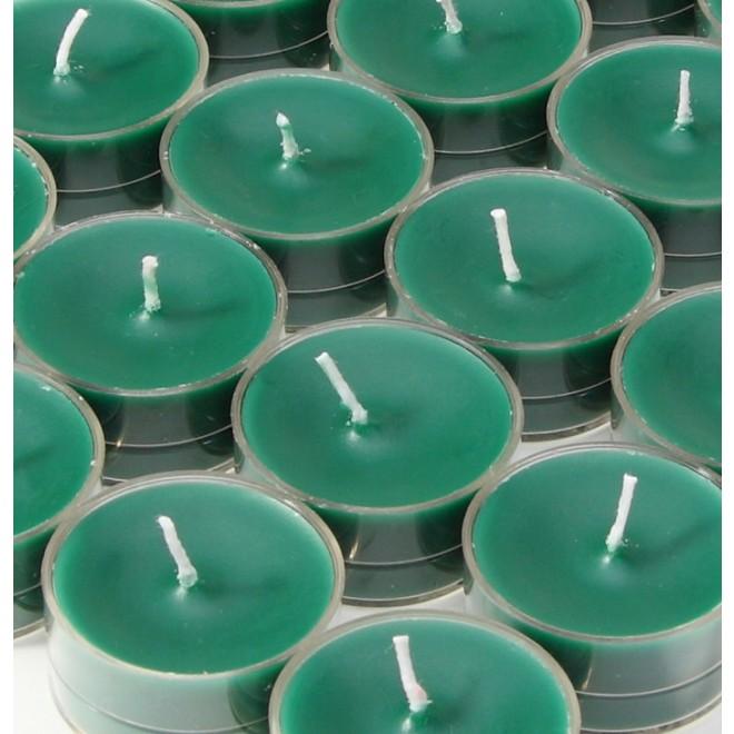 Hunter Green Tealight Candles 50pcs Pack
