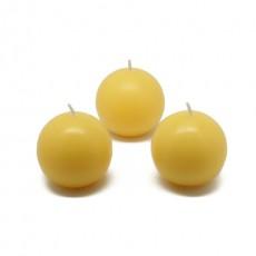 "2"" Yellow Ball Candles (96pcs/Case) Bulk"