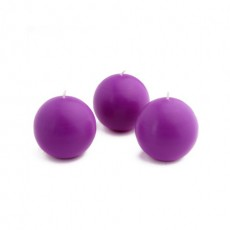 "2"" Purple Ball Candles (12pc/Box)"