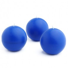 "3"" Blue Ball Candles (6pc/Box)"