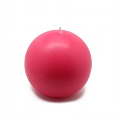 "4"" Hot Pink Ball Candles (2pc/Box)"