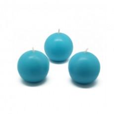 "2"" Turquoise Ball Candles (96pcs/Case) Bulk"
