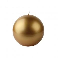 "4"" Metallic Gold Ball Candles (2pc/Box)"