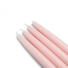 """6"""" Light Rose Taper Candles (1 Dozen)"""