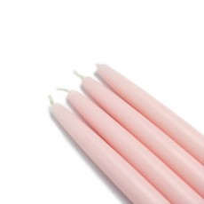 "6"" Light Rose Taper Candles (144pcs/Case) Bulk"