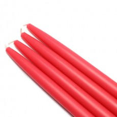 "10"" Ruby Red Taper Candles (1 Dozen)"