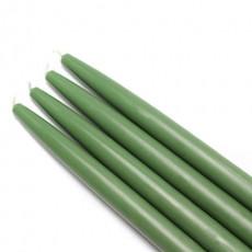 """10"""" Hunter Green Taper Candles (1 Dozen)"""