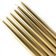 "10"" Metallic Gold Taper Candles (1 Dozen)"