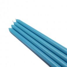 "12"" Turquoise Taper Candles (144pcs/Case) Bulk"