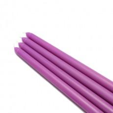 "12"" Purple Taper Candles (144pcs/Case) Bulk"