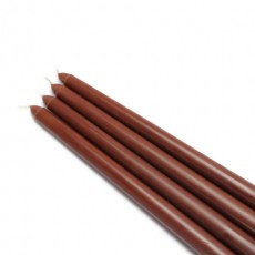 "12"" Brown Taper Candles (1 Dozen)"