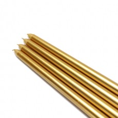 "12"" Metallic Gold Taper Candles (1 Dozen)"