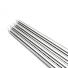 "12"" Metallic Silver Taper Candles (144pcs/Case) Bulk"