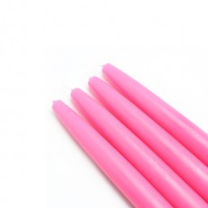 "6"" Hot Pink Taper Candles (1 Dozen)"