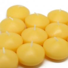 "1 3/4"" Yellow Floating Candles (288pcs/Case) Bulk"