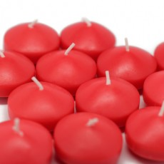 """1 3/4"""" Ruby Red Floating Candles (288pcs/Case) Bulk"""