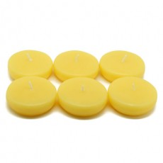 "2 1/4"" Yellow Floating Candles (24pc/Box)"