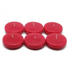 "2 1/4"" Red Floating Candles (24pc/Box)"